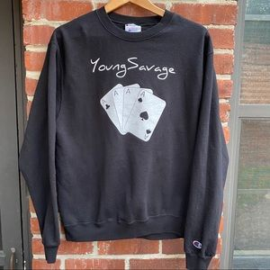 Young Savage Champion 4 Ace Black/White Sweatshirt